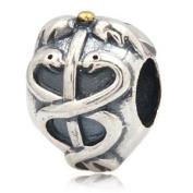 Caduceus Life Saver 925 Sterling Silver Charm Fits Pandora Charm Bracelet