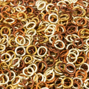 Weave Got Maille 18-Gauge Pirate's Gold Enamelled Copper Jump Ring Mix, 4.5mm