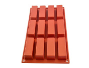 Shoprt Mould 12 Cavities Rectangle Silicone Oven Handmade Soap Moulds Soap DIY Moulds Chocolate Mould