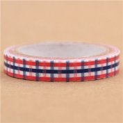 super thin blue-red checker pattern mini deco tape by Prime Nakamura