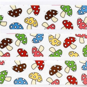 cute white toadstool deco tape