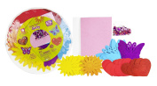 Fibre-Craft Foam Shapes & Sequins Party Platter, Hearts, Flowers, & Butterflies