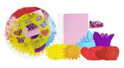 Fibre-Craft Foam Shapes & Sequins Party Platter, Hearts, Flowers, & Butterflies