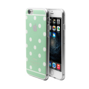 iPhone 6/6s Case Cover + Free Screen Protector-Superstart Green Cute Polka Dot Soft TPU Rubber Case for iPhone 6/6s 12cm Ultra Thin Clear Scrath Resistant Case