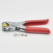 "100 Sets 3/8"" 10mm Open Ring Stud Snap Button Sew & One Press Fastener Plier Nickle"