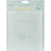 Lea'bilities Embossing Folder, Frame Blossom Heart