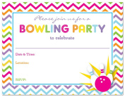 24 Cnt Girl Bowling Fill-in Party Invitations