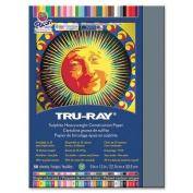 Tru-Ray Construction Paper, 34kg., 23cm x 30cm , 50/PK, Slate