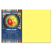 Tru-Ray Construction Paper,34kg.,30cm x 46cm ,50/PK,Light Yellow