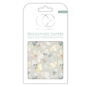 Craft Consortium Decoupage Printed Paper Pack of 3 - CP186 Meadow Fluttter