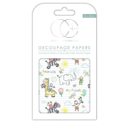 Craft Consortium Decoupage Printed Paper Pack of 3 - CP161 Kids - Friends