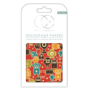 Craft Consortium Decoupage Printed Paper Pack of 3 - CP154 Little Robots
