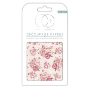 Craft Consortium Decoupage Printed Paper Pack of 3 - CP125 Pink Roses Polka