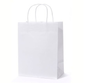 Craft Gift Bags ~ White Paper 1 Dozen - 10 X 13cm X 33cm Kraft Paper Bags, Shopping, Merchandise, Party, Gift Bags