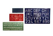 4 Piece Plastic Lettering Guide Stencil Set