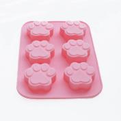 X-Haibei Paw Print Soap Ice Cream Chocolate Cake Plaster Silicone Mould 60ml / Cavity