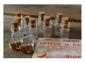 50pcs 10x18mm Cute Extra Small Mini Clear Glass Bottle Vials with Cork 0.5ml