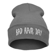 1pc/lot Sport Winter Bad Hair Day Beanie Cap Fashion Women Cotton Blend Beanie Knitted Winter Hiphop Hats Caps