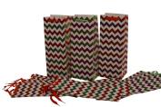 Wine Gift Bag, Sparkling Chevron Glitter, Set of 1 Dozen