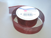 Prasent Royal Red 3.8cm . x 1.8m 100% Polyester Christmas Ribbon - Great for the Holiday Season!