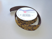 Prasent Royal Maroon pattern 2.2cm . x 3m 100% Polyester Christmas Ribbon - Great for the Holiday Season!