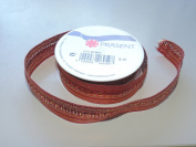 Prasent Red and Gold Sequin pattern 2.2cm . x 3m 100% Polyester Christmas Ribbon - Great for the Holiday Season!