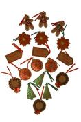 Kraft Gift Tags, Christmas designs, 46cm - 10cm Tags per pack