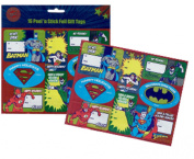 Dc Comics Super Hero 16 Peel 'N Stick Foil Christmas Gift Tags