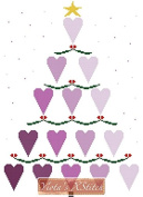 Heart Christmas Tree Counted Cross Stitch Kit