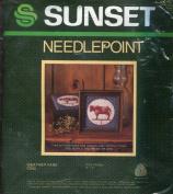 Sunset Stamped Cross Stitch Kit ~ Weather Vane Cow