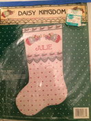 Angel Bunnies 41cm Christmas Stocking - Daisy Kingdom Bucilla Cross Stitch Kit