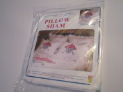 Rose Bouquet Pillow Sham ... Stamped Cross Stitch ... Standard Size