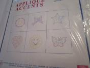 Applique Accents to Embroider ... Pattern 726 Girl Fun ... Six 8.9cm x 8.9cm Sampler