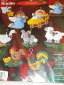 Bucilla Felt Ornaments ... Baby Jesus Nativity ... Naissance du petet Jesus ... Nacimento Nino Jesus ... Felt Christmas Tree Ornament Kit