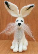 Mountain/Winter Hare Needle Felting Kit by Lincolnshire Fenn Crafts