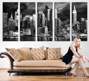 New York Large Wall Art Canvas - New York 5 Panel Large Wall Art - 150cm x 80cm Total