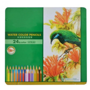Drawfun 24pcs Watercolour Pencils Set/Metal Case. Best Art Colouring, Painting, Sketching for Artists, Child, Teen,Adult De-Stress!