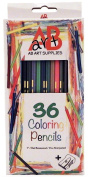 Coloured Pencils - 36 Artist Quality Colouring Pencils for Adults & Kids. Pre-Sharpened Colour Pencil Set + Free Sharpener in Convenient Holding Tray. 18cm Top Quality Basswood, Best Grip Hexagonal Shape, Popular Colours, Art...