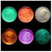 Silks Acrylic Glaze -Vintage Earth-Black Emerald, Rustic Rose, Warm Grey, Wisteria, Vintage Mint, Autumn Leaf, Six pc 10 ml set