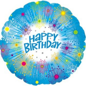 23cm Happy Birthday Mini Foil (Self Sealing) Pack of 10 ...