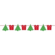 Creative Party Christmas Trees & Presents Garland Ribbon Banner Decoration