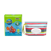 Huggies Little Swimmers with Huggies Natural Care Clutch N Clean Baby Wipe - Size Small