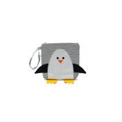 Nikiani Snack Bag Chilli - Silver Glitter Penguin