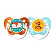 Ulubulu 6-18 Months 2 Pack Boy Pacifier - Foxy