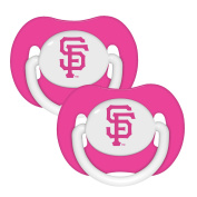 Baby Fanatic Pacifier 2 Pack - Pink San Francisco Giants