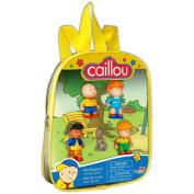 Caillou Mini Figurine Backpacks, Red