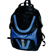School Smart Double Pocket 43cm  Boy's Backpack - Polyester Blue