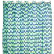 Pam Grace Creations Zigzag Elephant Cotton Shower Curtain