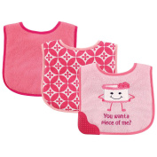 Luvable Friends 3 Pack Bibs with Teether - Cake