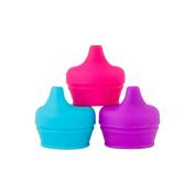 Boon SNUG 3 Pack Spout Lids -  Pink/Purple/Blue